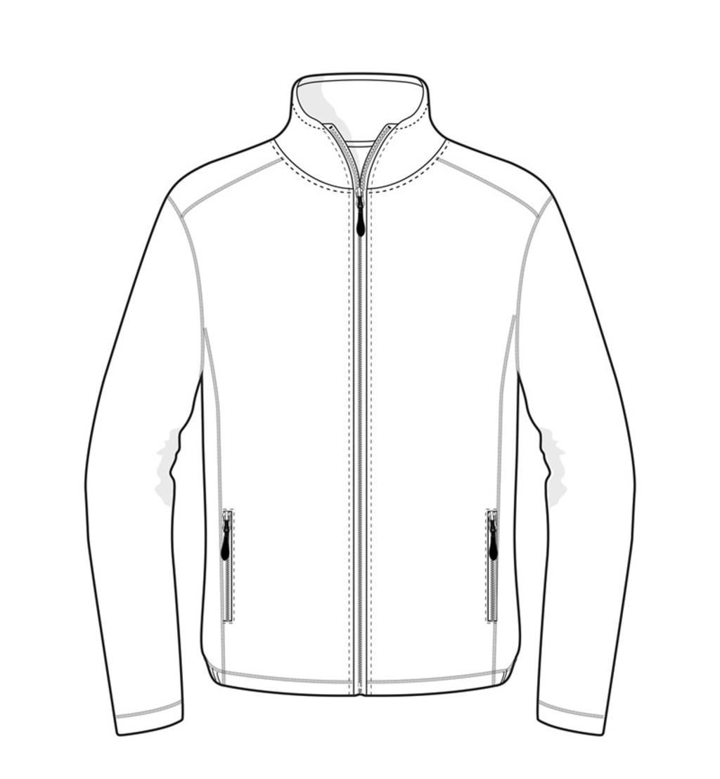 0803 Microfleece Vest Wit