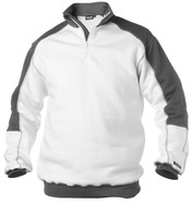 BASIEL Zip sweater Wit